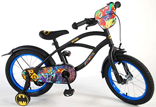 Disney 81634 Volare Kinderfiets, 16 inch, 16 inch, kinderfiets, jongensfiets, terugtraprem, fiets