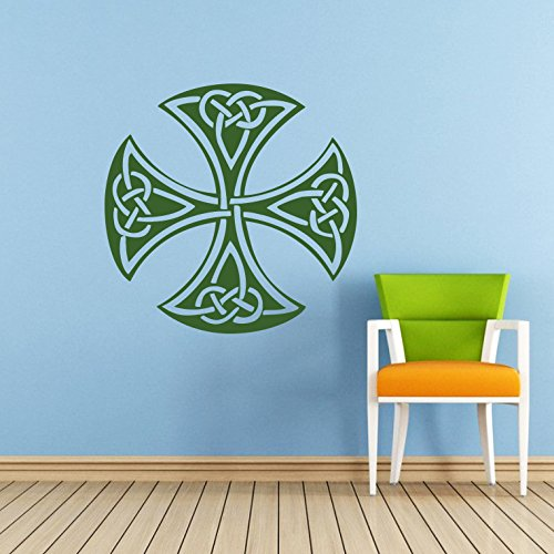 Celtic Cross Wall Decal Celtic Cross Decals Wall Vinyl Sticker Home Interior Wall Decor for Any Room Housewares Mural Design Graphic Bedroom Wall Decal Bathroom (5849)