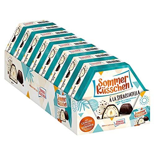 Ferrero Küsschen Sommer Edition Küsschen Stracciatella Creme feine Nussspezialität (8 Packungen a 182g )