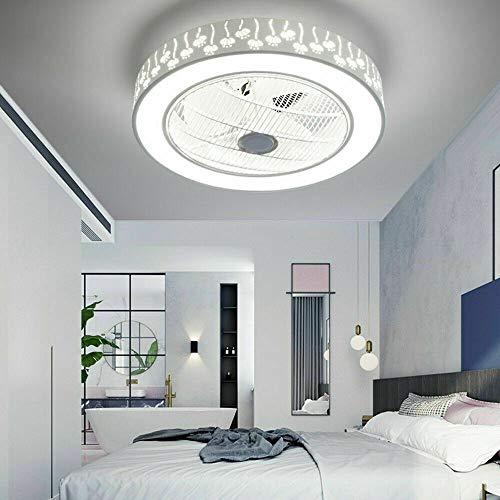 Deckenventilator mit Beleuchtung LED-Licht Einstellbare Windgeschwindigkeit Dimmbar Creative Gitterlüfter Invisible Fan mit Fernbedienung, für Schlafzimmer Wohnzimmer Esszimmer (Stil 1)