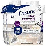 Ensure Max Protein Nutrition Shake - Vanilla - 44 Fl Oz Total (Pack of 4)