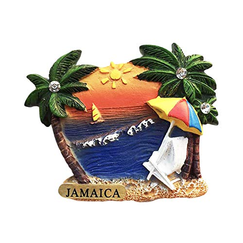 Jamaika 3D Seaside Kühlschrankmagnet Souvenirs Handmade Harz Magnetic Aufkleber Home Küche Dekoration, Jamaika Kühlschrankmagnet Sammlung Geschenk
