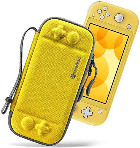 tomtoc Tasche für Nintendo Switch Lite, Farbig Switch Lite Taschen, Ultradünn Schutzhülle Kompatibel mit 8 Spiele Games und Switch Lite Konsole, Stoßfest Hartschale Aufbewahrung Hard Case, Gelb