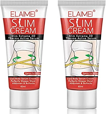 Hot Cream, Slimming Cream Fat Burner Weight Loss Sweat Cream Cellulite Removal Cream, Anti Cellulite Natural Slim Firming Body Cream for Shaping Waist, Abdomen and Buttocks (2 Pack) from Macfee