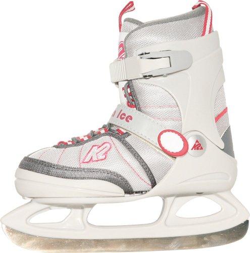 K2 Skates Mädchen Anna JR Ice Skates, Weiß, 35-40 EU