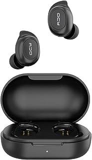 سماعات أذن T9 بلوتوث لاسلكية مع علبة شحن مغناطيسية من كيو سي واي - أسود