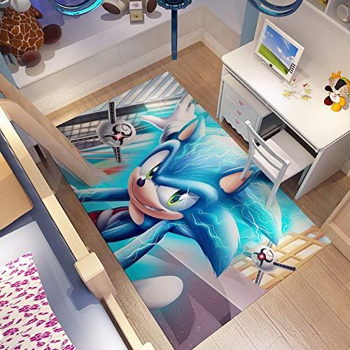 GOOCO Kinder c oon Anime c oon Charakter Rolle Sonic Hedgehog Muster benutzerdefinierte Matte langlebig rutschfeste eingangstür Teppich rechteckigen Teppich Hotel Toilette Flanell