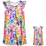 Matching Girls & Dolls Nightgowns Cat Pajamas Princess Sleepwear Size 6 7