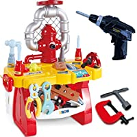 Gifts2U Pretend Play Workbench with Electric Drill for Toddlers Age 3