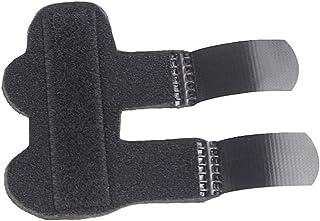HEALIFTY Soporte de dedos ajustable Férula Protector de dedos Brace Corrector de dedos (negro)