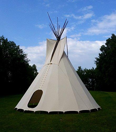komplettes Ø 5m Tipi Indianerzelt Wigwam Indianer Zelt Sioux, Yakari Style Indianertipi