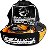 GearAmerica Tree Saver Winch Strap 3' x8' | Heavy Duty 35,000 lbs (17.5 Tons) Strength | Off-Road Towing and Recovery Rope for Jeep or Truck | Reinforced Loops + Adjustable Sleeves + Free Storage Bag