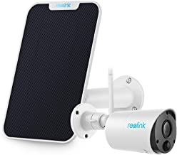 $89 » Reolink Argus Eco with Solar Panel (White) Bundle - Wireless Camera Rechargeable Battery Solar Capable Cloud Storage 1080P...