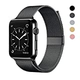 OSUVOX Compatible for IWatch Band, 38mm/40mm 42mm/44mm, Stainless Steel Loop Magnetic Band Compatible with Iwatch Series 5/4/3/2/1 (Gray, 38mm/40mm)