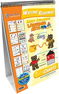NewPath Learning Writing Readiness Curriculum Mastery Flip Chart Set, Early Childhood