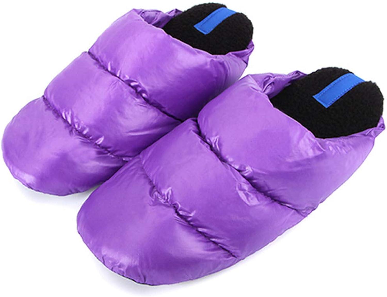 Nafanio Winter Home Slippers Women Slip-on Flats Soft Floor Down Cotton Indoor Warm Bedroom shoes Boots