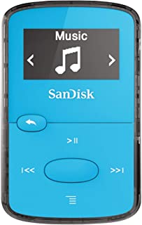 SanDisk 8GB Clip Jam MP3 Player Blue SDMX26-008G-G46B (Renewed)