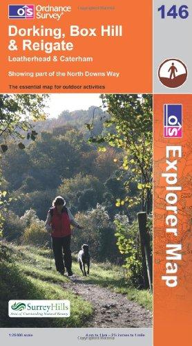 OS Explorer map 146 : Dorking, Box Hill & Reigate