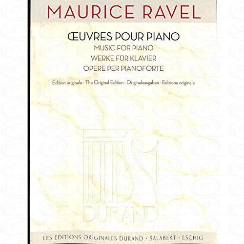 OEUVRES POUR PIANO - arrangiert für Klavier [Noten/Sheetmusic] Komponist : RAVEL MAURICE