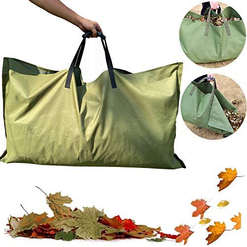 REPUBLICOOL Leaf Bag, Gardening Bag, Garden Tarp, Gardening Basket, Lawn Yard Waste Tarp, Container, Tote, Heavy Duty Military Canvas Fabric, Green