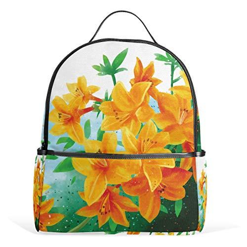 Rhododendron Goldener Adler Blumen Schulranzen Rucksack Canvas Rucksack Große Kapazität Tasche Casual Reise Daypack für Kinder Mädchen Jungen Kinder Studenten