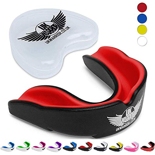 UK Warrior UKWARRIOR.CO.UK Protector bucal para Deportes de Contacto, Rugby, Artes...