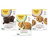 TRY MULTIPLE FLAVORS with our best selling Variety Pack options OR Send to family & friends as Gifts. Contains 1 Chocolate Muffin & Cake, 1 Chocolate Chip Cookie, 1 Artisan Bread Nothing artificial, ever.
