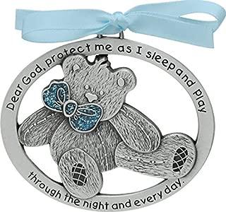 Cathedral Art CM17B Blue Teddy Bear Crib Medal, 2-1/2 Inch by 2-Inch