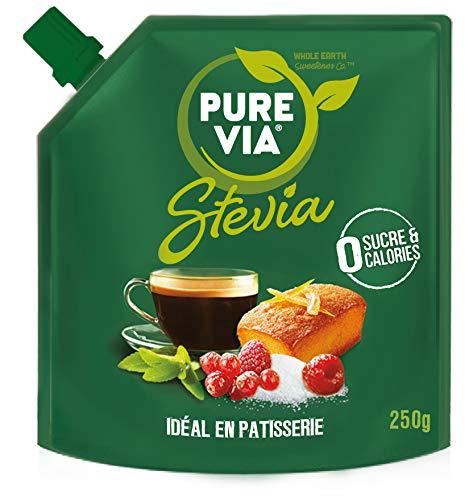 PURE VIA - Lot de 2 Poudre Cristallisée Stevia – Zéro Calorie – 250g