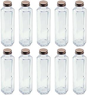 日本製 ハーバリウム 六角柱ガラス瓶 150cc 10本セット