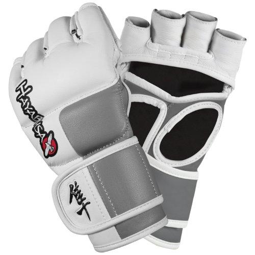 Hayabusa MMA Handschuhe Tokushu, Weiß / Grau (XL)