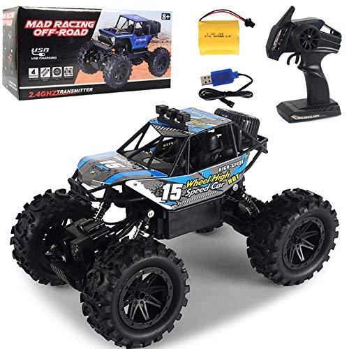 Iwinna 1:14 4WD RC Crawler Car – 2.4G inalámbrico HigIwinna Speed todoterreno escalada camión juguete con control remoto Iwinna, regalo divertido para niños