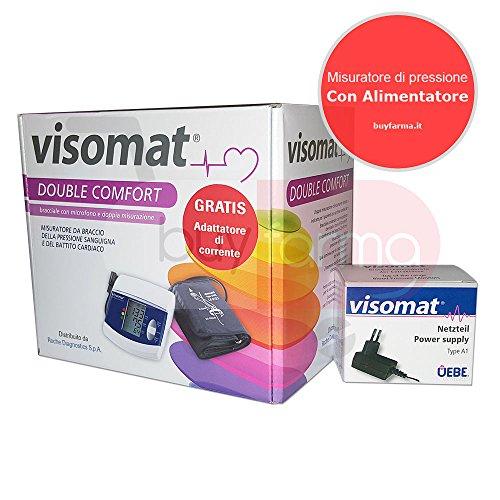Roche Visomat Double Comfort - Misuratore di Pressione da Braccio + Alimentatore...