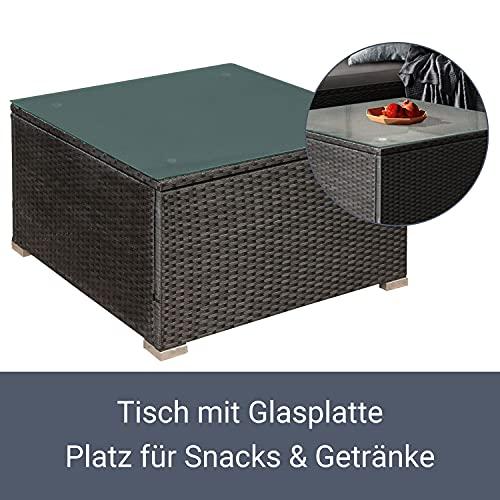 ArtLife Polyrattan Lounge Nassau schwarz | Gartenmöbel Set mit Ecksofa & Tisch | Bezüge in Grau | Sitzgruppe für Terrasse | Loungemöbel Gartenlounge - 4
