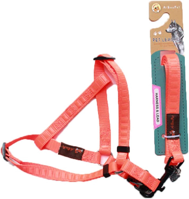 Chest Strap  pet Adjustable Small Dog Chest Strap (color   orange, Size   Large)
