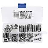 50Pcs Stainless Steel Inner Thread Self Tapping Thread Inserts Set Thread Reinforce Repair...