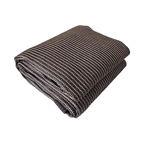 LLCY 90% de protección Solar Traza de Sombra Terraza al Aire Libre Pérgola Anti-UV Brown Shade Net, 23 tamaños Malla de sombreo (Color : Brown, Size : 6×8m)