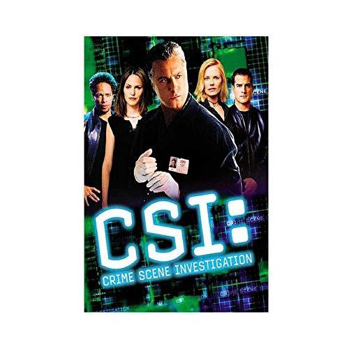 The TV Show CSI Crime Scene Investigation 1 Lienzo decorativo para pared, impresión artística para sala de estar o dormitorio, 60 x 90 cm, estilo Unframe-1
