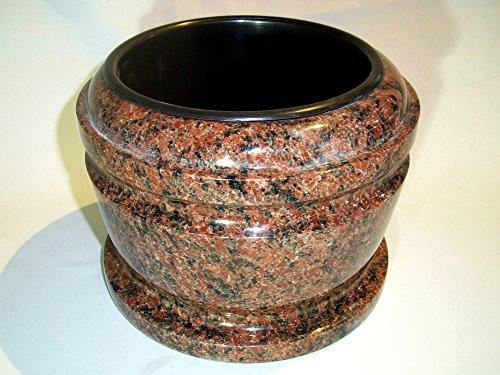 designgrab Bol funéraire exclusif en granit Vanga - Diamètre : 25 cm