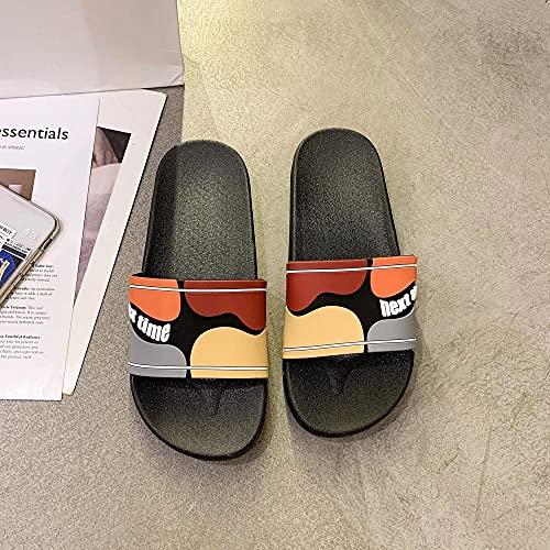 LLGG Zapatos de Playa y Piscina,Zapatillas de Color Caramelo de Color de Caramelo, baño de baño-Negro (Hombre)_42-43,Zapatillas sin Cordones para Mujer/Hombre