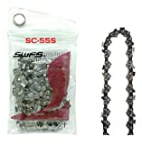 """Replacement 16 Inch Semi Chisel Chainsaw Chain S55, Pitch: 3/8"""", Gauge: .050"""", Drive Links: 55 for Craftsman, Olympyk, Poulan, Stihl and Others"""