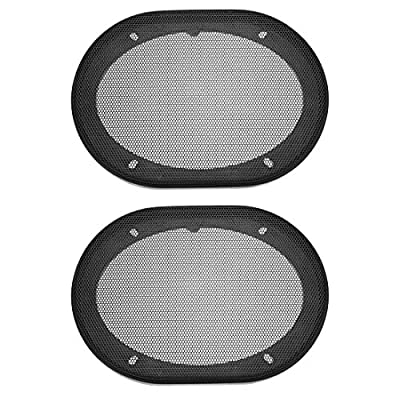 sourcing map Speaker Grill Cover 5x7 Inch Mesh Decorative Square Subwoofer Guard Protector Black 2pcs by sourcing map
