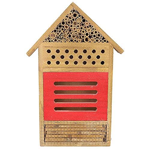 ANCLLO - Casa degli insetti in legno naturale, per albergo e farfalle, per giardini, coccinelle,...