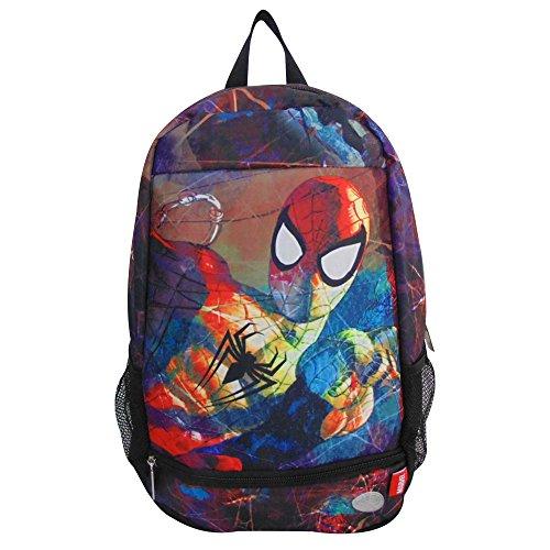 Spiderman 8750-1 Mochila Escolar Porta Laptop 16 Pulgadas Primaria Backpack Casual Infantil Juvenil Ginga