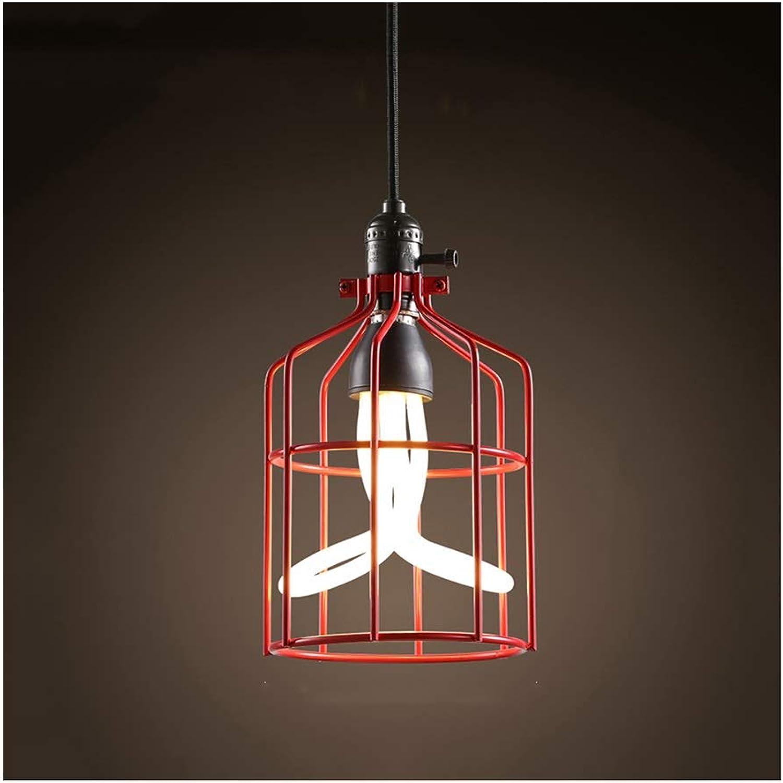 RRC-Lámpara Colgante de luz Industrial Hierro Forjado LED E27 Lámpara de Techo Salón Decoración Dormitorio Corrojoor Bar Araa [Clase de eficiencia energética A ++] Iluminación Interior (Color   A)