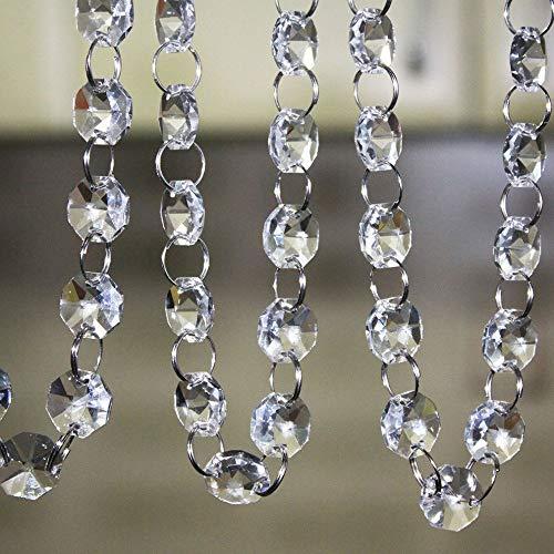 SKY CANDYBAR 16 Feet Crystal Acrylic Gems Bead Garland Strands Manzanita Crystals Tree Garlands Christmas Decoration
