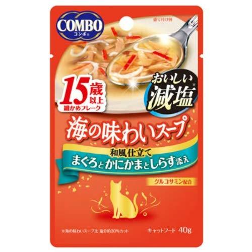 コンボ キャット 海の味わいスープ おいしい減塩 15歳以上 まぐろとかにかまとしらす添え 40g