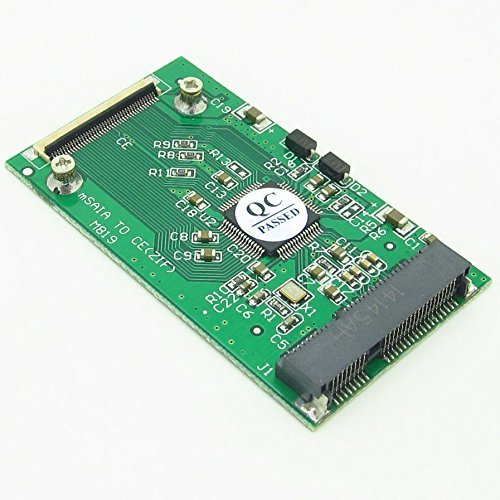 Pxyelec Konverter/Adapter, 50 mm, mSATA PCI-E SSD auf 40 Pin, 1,8 Zoll (4,5 cm), CE ZIF