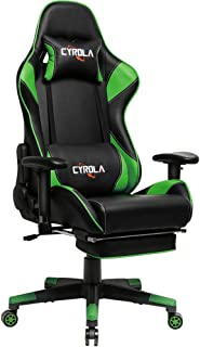 gaming chair black and green
