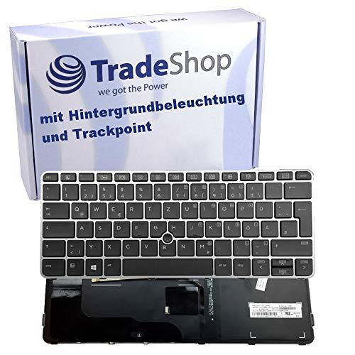 Original Tastatur Deutsch QWERTZ für HP EliteBook 820 G3, 820 G4, 828 G3 / ProBook 640 G1 mit Trackpoint und Hintergrundbeleuchtung Notebook Keyboard